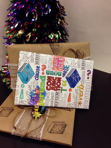 Do-Lit-Yourself: Colour Me CanLit Wrapping Paper