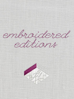 Cover Collage: Embroidered Editions