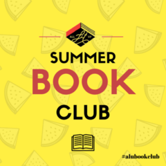 all lit up, summer book club banner