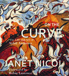 on the curve, book cover. janet nicol