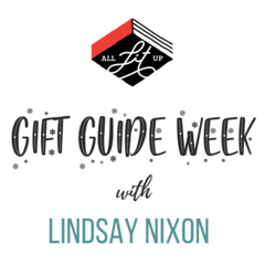 all lit up, gift guide week, campaign logo