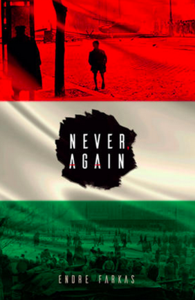 never, again, book cover, andre farkas