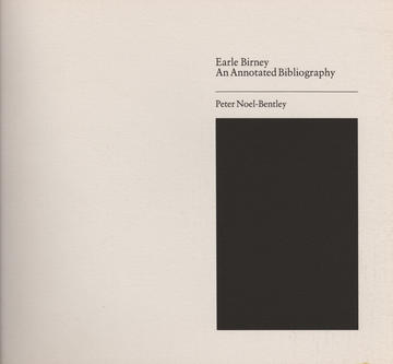 Annotated Bibliography of Earle Birney