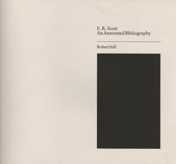Annotated Bibliography of F. R. Scott
